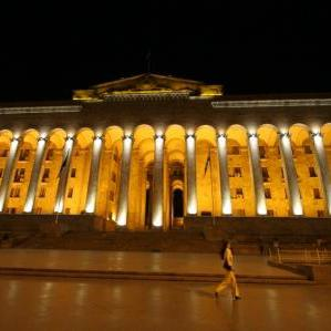Tbilisi-Parliement by night
